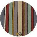 Susan Branch Seashore Stripes Round: 15'' x 15'' - Blue Chair Pad