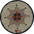 Susan Branch Vintage Home Round: 15'' x 15'' - Taupe Chair Pad