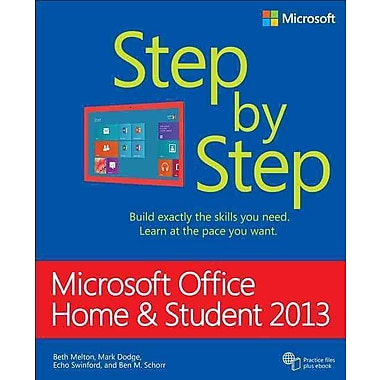 microsoft office home and student 2013 step by step staples. Black Bedroom Furniture Sets. Home Design Ideas