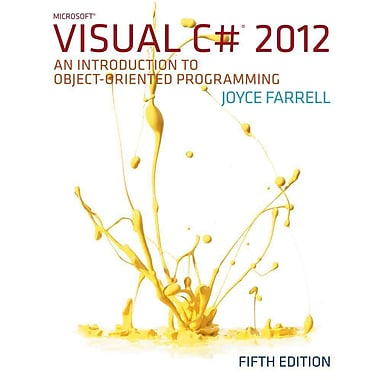Microsoft Visual C# 2012: An Introduction to Object-Oriented Programming, New Book