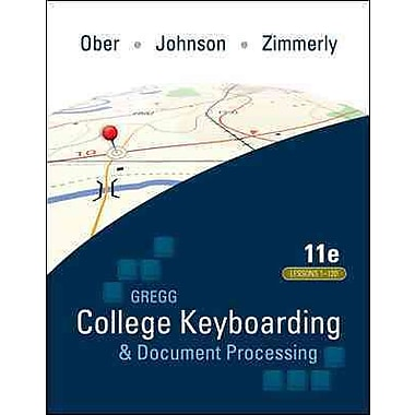 Gregg College Keyboarding and Document Processing, Kit 3: Lessons 1-120, With Word 2010 Manual, New Book