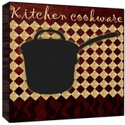 Green Leaf Art Kitchen Cookware Wall Art; 24'' H x 24'' W x 1.5'' D