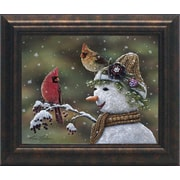 Artistic Reflections Winter Visitors II by Norlien, Kim Framed Painting Print