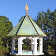 Heartwood Carousel Cafe Gazebo Hopper Bird Feeder; Bright Copper Roof