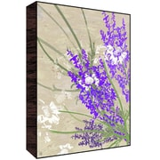 Green Leaf Art Lavander Flowers Wall Art; 28'' H x 22'' W x 1.5'' D