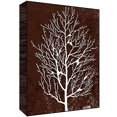 Green Leaf Art Winter Tree I Painting Print; 28'' H x 22'' W x 1.5'' D