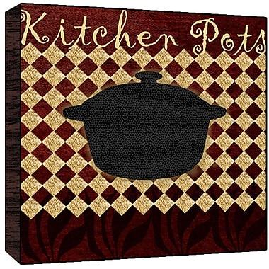 Green Leaf Art Kitchen Pots Graphic Art; 24'' H x 24'' W x 1.5'' D