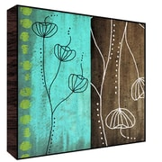 Green Leaf Art Blue and Brown II Painting Print Plaque; 24'' H x 24'' W x 1.5'' D