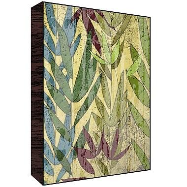 Green Leaf Art Leaves I Graphic Art; 28'' H x 22'' W x 1.5'' D