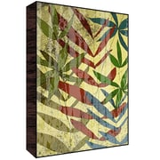 Green Leaf Art Leaves II Painting Print Plaque; 14'' H x 11'' W x 1.5'' D