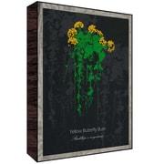 Green Leaf Art Buttefly Bush Painting Print Plaque; 14'' H x 11'' W x 1.5'' D