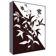 Green Leaf Art Black and White I Graphic Art; 28'' H x 22'' W x 1.5'' D