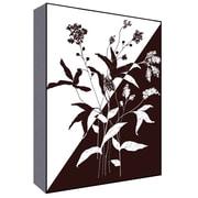Green Leaf Art Black and White II Graphic Art; 28'' H x 22'' W x 1.5'' D