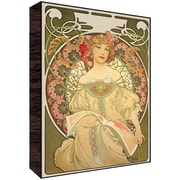 Green Leaf Art Muse II Poster Graphic Art; 14'' H x 11'' W x 1.5'' D