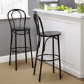 TMS Vintage Inspire Barstool (Set of 2); Black