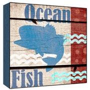 Green Leaf Art Ocean Fish Wall Art; 24'' H x 24'' W