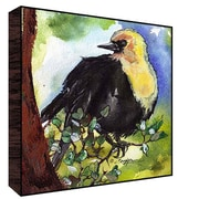 Green Leaf Art Headed Bird Wall Art; 12'' H x 12'' W x 1.5'' D