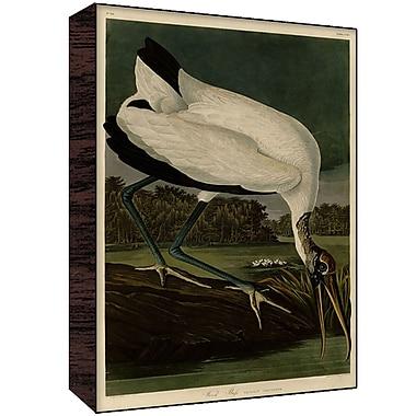 Green Leaf Art Heron IV Painting Print; 30'' H x 20'' W x 1.5'' D