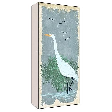 Green Leaf Art Heron III Painting Print; 40'' H x 20'' W x 1.5'' D