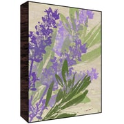 Green Leaf Art Lavander Leaves Wall Art; 14'' H x 11'' W x 1.5'' D