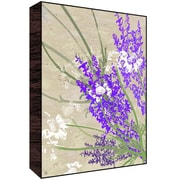 Green Leaf Art Lavander Flowers Wall Art; 14'' H x 11'' W x 1.5'' D