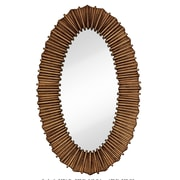Majestic Mirror Oval Traditional Ornate Framed Hanging Glass Wall; Antique Bronze