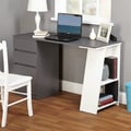 TMS Como Writing Desk; Gray / White