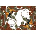 October Hill Pine Birds Large Paper Placemat (Set of 40)