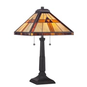 Quoizel Bryant Tiffany 23'' H Table Lamp with Square Shade