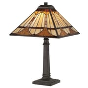 Quoizel Timber Tiffany 21'' H Table Lamp with Square Shade