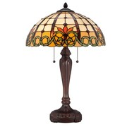 Quoizel Bishop Tiffany 23.5'' H Table Lamp with Bowl Shade