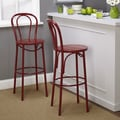 TMS Vintage Inspire Barstool (Set of 2); Red