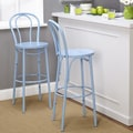 TMS Vintage Inspire Barstool (Set of 2); Blue