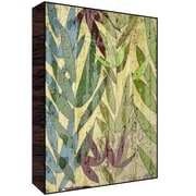 Green Leaf Art Leaves I Wall Art; 14'' H x 11'' W x 1.5'' D