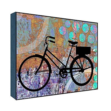 Green Leaf Art Her Bicycle Graphic Art; 11'' H x 14'' W x 1.5'' D