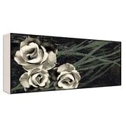 Green Leaf Art Romantic Roses I Wall Art; 10'' H x 20'' W x 1.5'' D