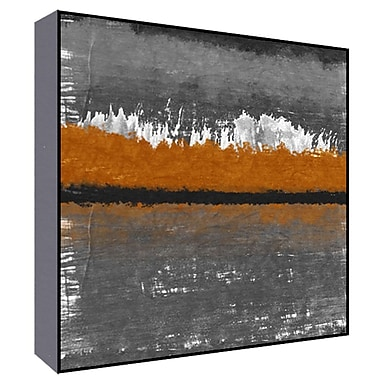 Green Leaf Art Orange Horizon I Painting Print; 36'' H x 36'' W x 1.5'' D