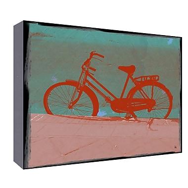 Green Leaf Art Female Bike Graphic Art; 22'' H x 28'' W x 1.5'' D
