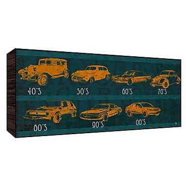 Green Leaf Art Car History Graphic Art; 10'' H x 20'' W x 1.5'' D