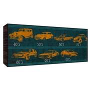 Green Leaf Art Car History Wall Art; 10'' H x 20'' W x 1.5'' D