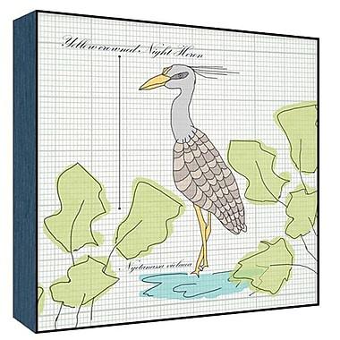 Green Leaf Art Heron I Graphic Art; 24'' H x 24'' W x 1.5'' D