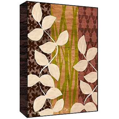 Green Leaf Art Leaves and Branches I Graphic Art; 14'' H x 11'' W x 1.5'' D