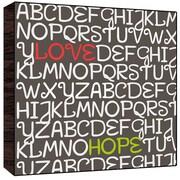 Green Leaf Art Love, Hope wood Art; 24'' H x 24'' W x 1.5'' D