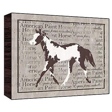 Green Leaf Art American Horse Graphic Art; 22'' H x 28'' W x 1.5'' D