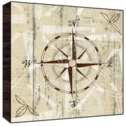 Green Leaf Art Compass I Wall Art; 24'' H x 24'' W x 1.5'' D