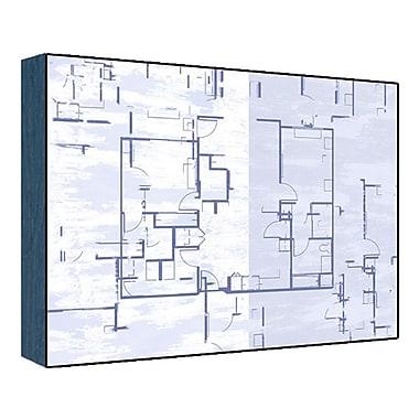 Green Leaf Art Blue Plan I Graphic Art; 11'' H x 14'' W x 1.5'' D