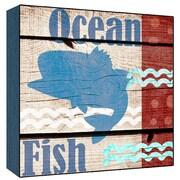 Green Leaf Art Ocean Fish Wall Art; 12'' H x 12'' W
