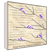Green Leaf Art Purple Birds Wall Art; 24'' H x 24'' W x 1.5'' D