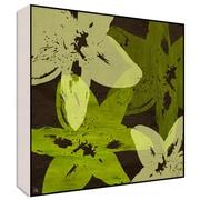 Green Leaf Art Floating I Wall Art; 24'' H x 24'' W x 1.5'' D