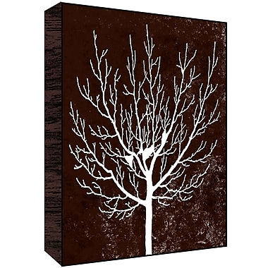 Green Leaf Art Winter Tree II Painting Print; 14'' H x 11'' W x 1.5'' D